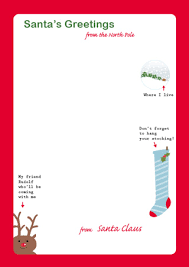 Letter from Santa on Santa stationary Holidays