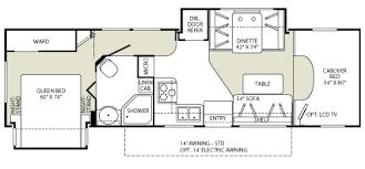 C Floor Plans by Class C Rv Floor Plans Fleetwood Tioga Class C Motorhome