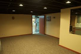 Affordable Basement Ceiling Ideas by Wonderful Unfinished Basement Floor Ideas Cheap Basement Flooring