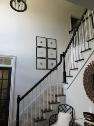TiffanyD: The Banisters Go Black... Outdoor Stair Railing Ideas Staircase Craftsman With Ceiling Best 25 Wood Railings On Pinterest Stairs Rustic Before And After Gel Stained Stair Rail Matsutake Axxys Reflections Oak Glass 12 Step Landing Balustrade Handrail Painted Banister Banister Remodel Bannister Hallway In Door Interior Designs Iron Design Shop Interior Railings Parts At Lowescom
