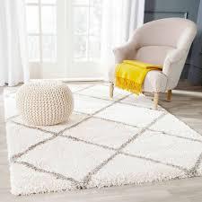 flauschigen weißen teppich moderne teppiche fuzzy creme