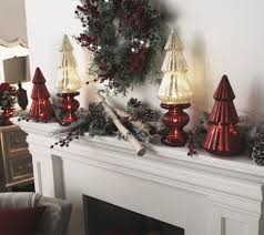 Qvc Pre Lit Christmas Trees by Set Of 2 Lit Candle Holder Pedestals With Mirror Inserts By