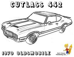 Brawny Muscle Car Coloring Pages For Classic