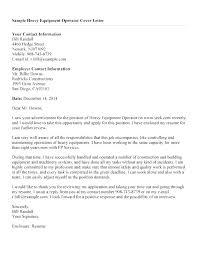 Construction Equipment Operator Sample Resume Gorgeous Forklift Driver Cover Letter Template