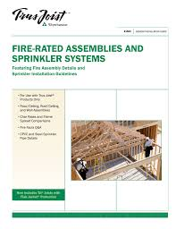 Tji Floor Joist Span by Trus Joist Fire Rated Assemblies And Sprinkler