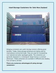 100 40 Foot Containers For Sale Used Storage For New Zealand By Australasian