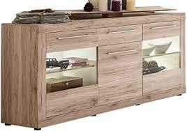 trendteam wohnzimmer sideboard kommode schrank passat 168 x 86 x 41 cm in eiche san remo hell dekor mit viel stauraum und reichlich platz für