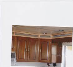 Kitchen Cabinet Soffit Ideas by Kitchen Ceiling Soffit Before Picture We Framed Opening Above
