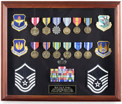 Medal Display Case Large Exquisite Cherry Finish Shadowbox