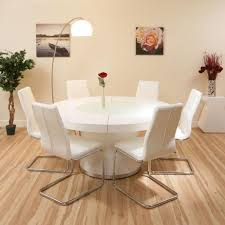 Round Extension Dining Table Pedestal With Leaf 7 Piece Room Set Under