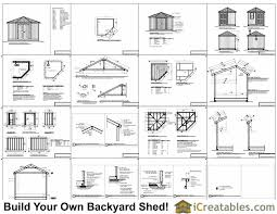 10x10 Shed Plans Blueprints by 10x10 5 Sided Corner Shed Plans