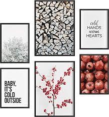 félice deko bilder für das wohnzimmer modern und angesagt premium poster set winter deko wand bild dekoration wohnung modern deko