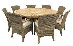 Solomon 1.8m Round Outdoor Teak Timber Dining Table With Kai ...