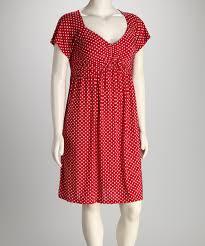 s h e u2013 soul harmony energy red polka dot plus size dress zulily
