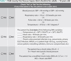 Sofa Sepsis Pdf 2016 by Polk County Fla Proves Ems Can Save Lives By Detecting Sepsis