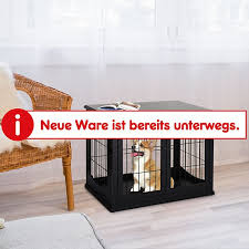 pawhut hundekäfig mit 2 türen 81 x 58 5 x 66 cm bxtxh hundehaus hundetransportbox ruhebox hundebox