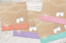 I Love The Details On This Particular Invitation It Has Lots Of Key Elements A Rustic Wedding Including Twine Brown Paper Bunting Birds And