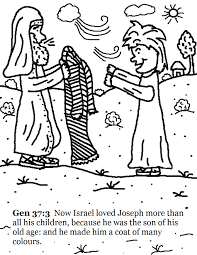 Josephs Coat Of Many Colors Coloring Pages Best Page