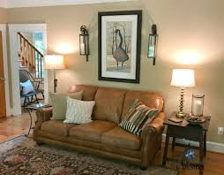 Country Style Living Room by Benjamin Moore Lenox Tan Farmhouse Country Style Living Room