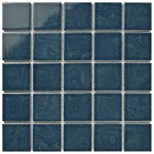 Home Depot Merola Penny Tile by Merola Tile Resort Coral Blue 12 In X 12 In X 5 Mm Porcelain