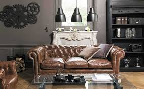 design chesterfield sofa 3 sitzer braun polster leder sofas wohnzimmer neu