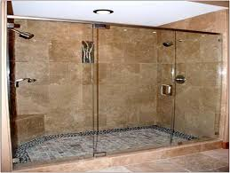 Paint Color For Bathroom With Brown Tile by Bathroom Doorless Shower Ideas Chrome Metal Wall Mount Shower