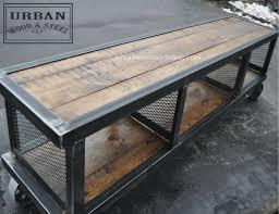 Copley Urban Industrial Coffee Table Urban Wood Steel LLC