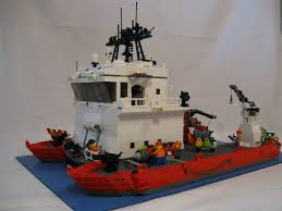 Lego Ship Sinking 2 by Moc The Timeaus Atlantis Deep Ocean Tender Research Ship Lego