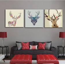 großhandel dekorative wohnzimmer home frameless wall poster verschiedene arten hirsch tiermalerei auf leinwand kein foto gerahmt