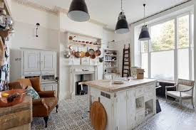 View In Gallery Beautiful Shabby Chic Style Kitchen With Tiled Flooring From Bruce Hemming Photography