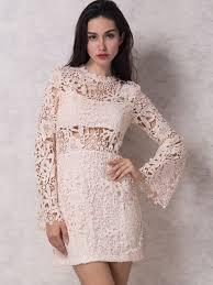 lace dresses white black u0026 long sleeve lace dress choies
