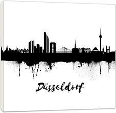 wandbilder wohnzimmer düsseldorf schwarz weiss 20x20cm