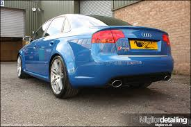 Audi Rs4 Full Correction Detail waxed with Swissvax Best of Show