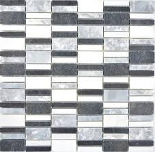 marmor mosaik stein schwarz grau weiß mosaikfliese wand fliesenspiegel küche bad mos88 0123 f