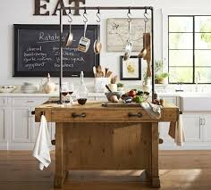 Rustic Industrial Kitchen Island With Pipe Inside