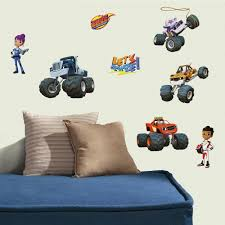 Blaze & The Monster Machines Peel And Stick Wall Decals | RoomMates Monster Truck Wall Decal Personalized Name For Boys Room Decor With Decalmonster Decorwall Etsy Vinyl By Homesweetwalls On 5800 Red Blue Sticker Transport Sport Decals Stickers Car Pickup Garage Megalodon Huge Officially Licensed Jam Removable Wallpops Multicolor Outrageous Trucks Decalwpk2576 The Home Lightning Mcqueen Grave Digger Pack Decalcomania Cars And Warrior Giant Dragon Launch Os_mb592