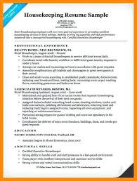Hospital Housekeeping Resume Examples Of