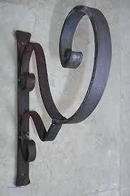 Wall Decor Hooks Decorative Outdoor Unique Wrought Iron Rustic Garden Bracket Hook
