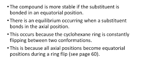 Cyclohexane Chair Conformation Flip by Section 2 7 Conformational Isomerism Stereoisomerism Isomer