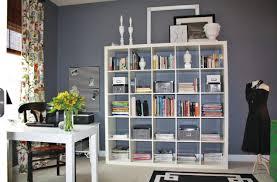 White Office Bookcase Figures Setup Ideas Ikea Shelf Living Room Wall Interior Design