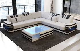 100 Modern Couches Sectional Fabric Sofa San Antonio L Shape With LED And USB