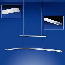 led pendelleuchte loire gebogen silber 100 cm lang led