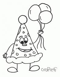 Happy Birthday Hats Coloring Sheets Remarkable Dr For Hat Page