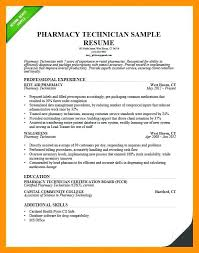 Pharmacy Tech Resume Gallery Picture Of Technician Template With No Experience