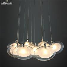 minimalist modern many balls plating oval glass chandelier