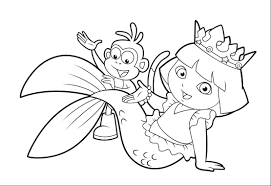 Lovely Dora Coloring Pages 35 On For Adults With