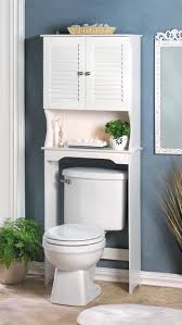 Small Bathroom Wall Storage Cabinets by Small Bathroom Using Navy Blue Accents Wall Painted Feat White