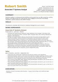 It Business Analyst Resume System Analyst Resume Samples Business