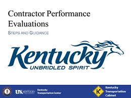Ky Transportation Cabinet District 6 by Kentucky Transportation Center Contractor Performance Evaluations