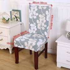 Uk Removable Elastic Stretch Slipcover Short Dining Room Chair Seat